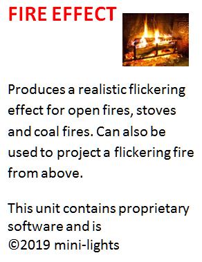 Fire flicker effect unit